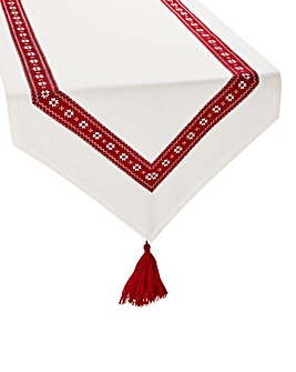 Cherish Table Runner with Tassles