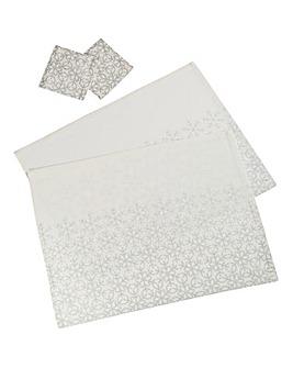 Silver Snowflakes Pk2 Placemats & Coaste