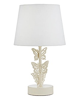 Cream Butterflies Table Lamp