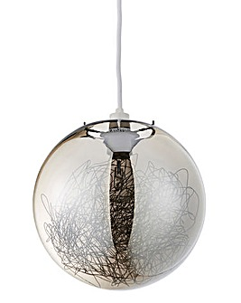Spruce Smokey Glass Ball Pendant