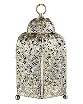 Antique Gold Fretwork Table Lamp