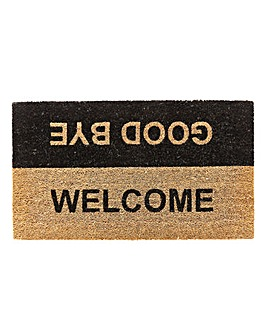 Welcome Goodbye Door Mat