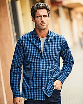 W&B Navy Check Shirt R