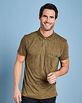 W&B Khaki Linen Mix Polo R