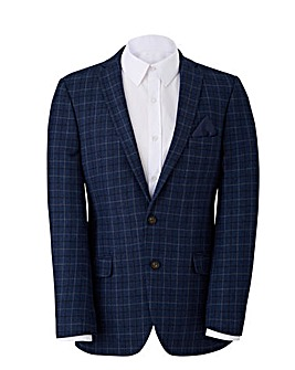 W&B Navy Check Wool Mix Blazer R