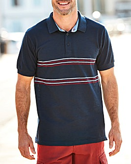 W&B Navy Polo Shirt L