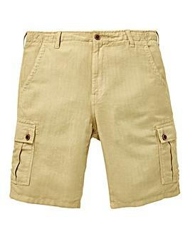 W&B Stone Linen Mix Cargo Shorts