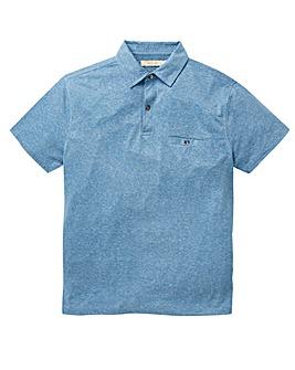 W&B Blue Linen Mix Polo R