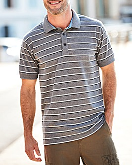 W&B Grey Stripe Polo Shirt R