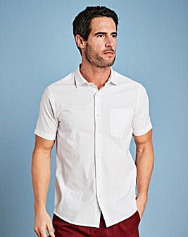 W&B White Seersucker Shirt L
