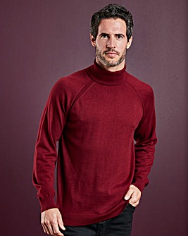 WILLIAMS & BROWN Silk Mix Roll Neck