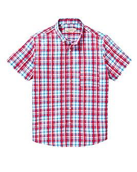 W&B Red Check Seersucker Shirt L