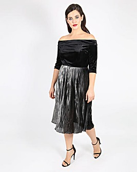 Lovedrobe Velvet Bardot Dress