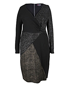 Lovedrobe Metallic Panelled Dress