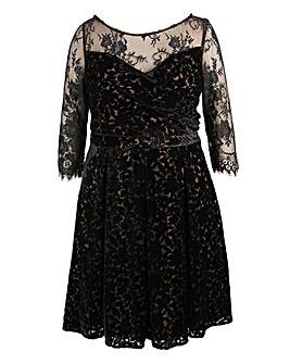 Lovedrobe Burnout Velvet Prom Dress