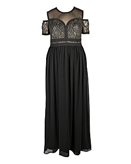 Lovedrobe Cold Shoulder Maxi Dress