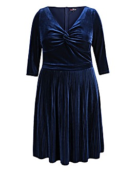 Lovedrobe Velvet Twist Dress