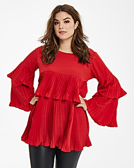AX Paris Pleated Frill Tunic
