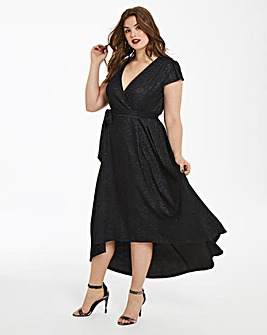 AX Paris Curve Glitter Midi Dress