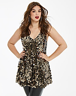 AX Paris Curve Sequin Swing Tunic