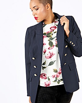Lovedrobe Gold Button Blazer