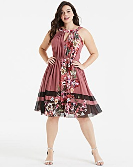Little Mistress Floral Skater Dress