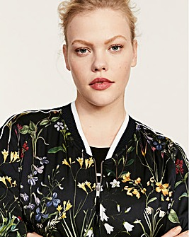 Violeta by Mango Floral Bomber