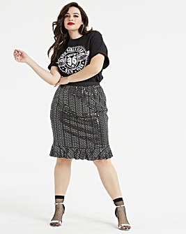 AX Paris Sequin Fit & Flare Skirt