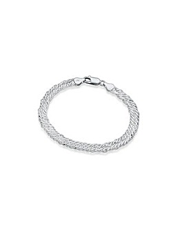 Sterling Silver Entwined Curb Bracelet