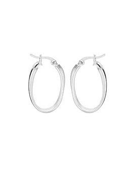 Sterling Silver 1/2Twist Creole Earrings