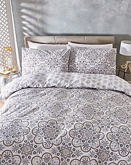 Leila Reversible Print Duvet Cover Set