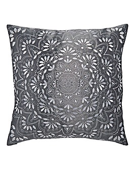 Aisha Embroidered Square Filled Cushion