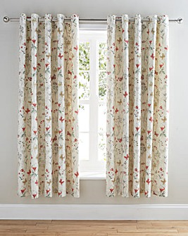 Eden Lined Eyelet Curtain