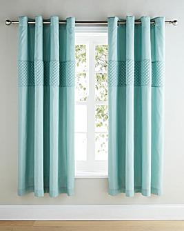 Corine Embellished Lined Eyelet Curtains
