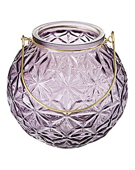 Purple Glass Lantern