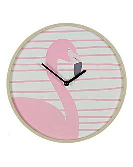 Botanica MDF Flamingo Wall Clock