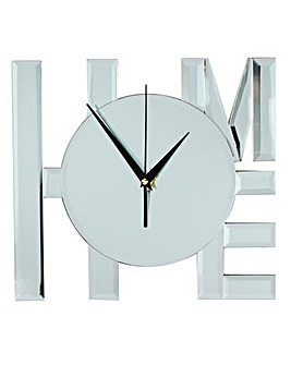 Hestia Glass Home Mirrored Wall Clock