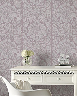 Gloriana Mulberry Wallpaper