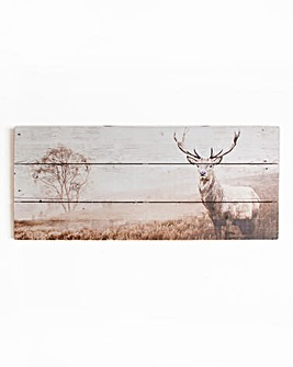 Stag Print on Wood