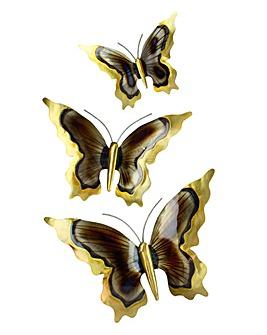Wall Art 3 Butterflies