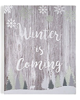 Winter is Coming Plaque