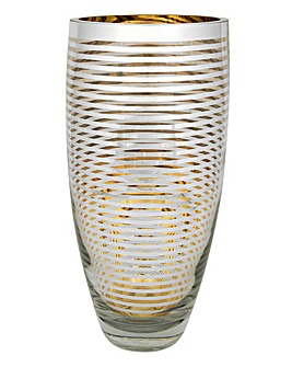 Gold Hoop Tapered Vase Large