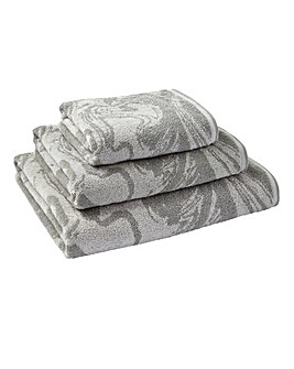 Marble Towel Range - Grey