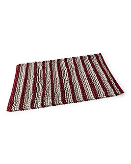 Damask Bath Mat Chenille Loop