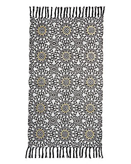 Suzani Rug with Metallic Accents