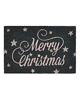Christmas Sparkle Coir Door Mat