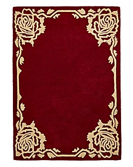 Rose Border Wool Rug