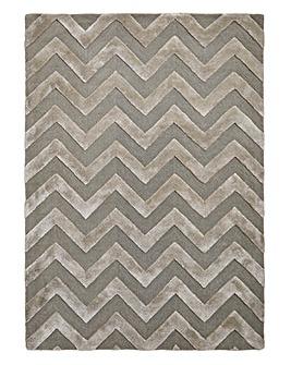 Luxury Chevron Wool & Viscose Rug