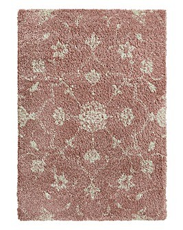 Noble Damask Shaggy Rug