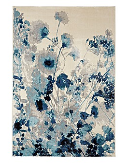 Mystery Watercolour Floral Rug Large